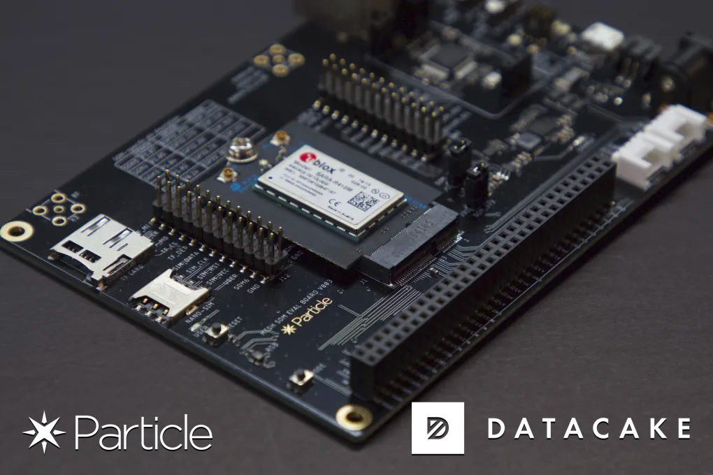 Create Dashboards and Apps for your Particle.io Devices in minutes with the Datacake Low-Code IoT Platform